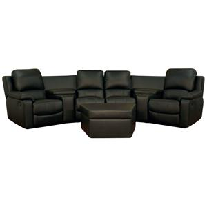 Curved Theater Seating With Ottoman