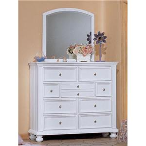 Winners Only Cape Cod  Youth Tall Dresser and Mirror Combo