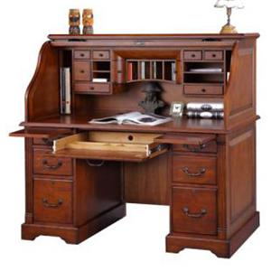 "Winners Only Country Cherry 57"" Roll Top Desk"