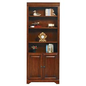 "Winners Only Country Cherry 32"" Bookcase w/ Doors"
