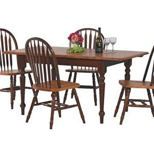 Winners Only Farmhouse Rectangular Leg Table