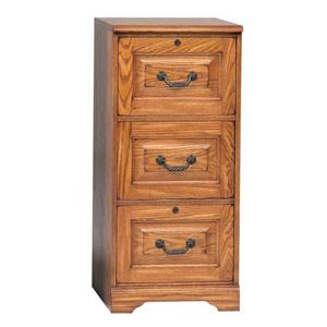 Winners Only Heritage Oak Hertiage Three-Drawer File