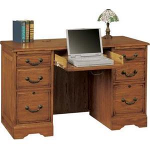 """Winners Only Heritage Oak 48"""" Heritage Dark & Light Flattop Desk"""