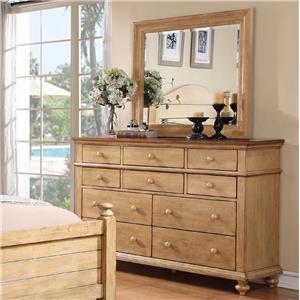 Winners Only Quails Run Dresser and Mirror Set