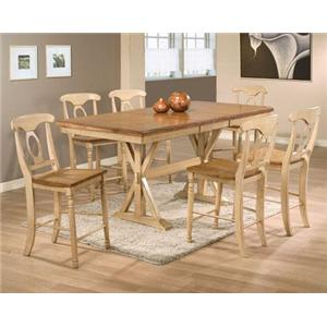 Winners Only Quails Run 7 Piece Tall Table with Barstools