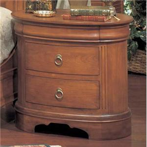 Winners Only Renaissance Three Drawer Oval Nightstand