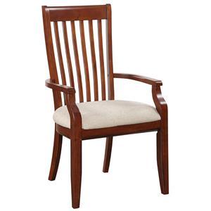 Winners Only Topaz Slat Back Arm Chair