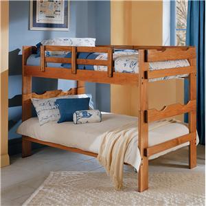Woodcrest Heartland BR Scalloped Split Bunk Bed