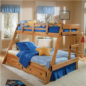 Woodcrest Heartland BR Twin/Full Size A-Frame Bunk Bed