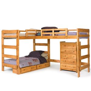 Woodcrest Heartland BR L-Shaped Loft Bed