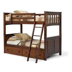 Woodcrest Pine Ridge Panel/Mission Bunk Bed