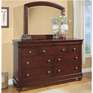 Flexsteel Wynwood Collection Olmsted Dresser and Mirror