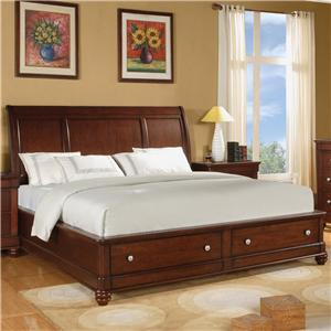 Flexsteel Wynwood Collection Olmsted Queen Storage Sleigh Bed
