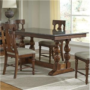 Aamerica andover park 6 piece counter height trestle table for Table 6 kitchen canton ohio