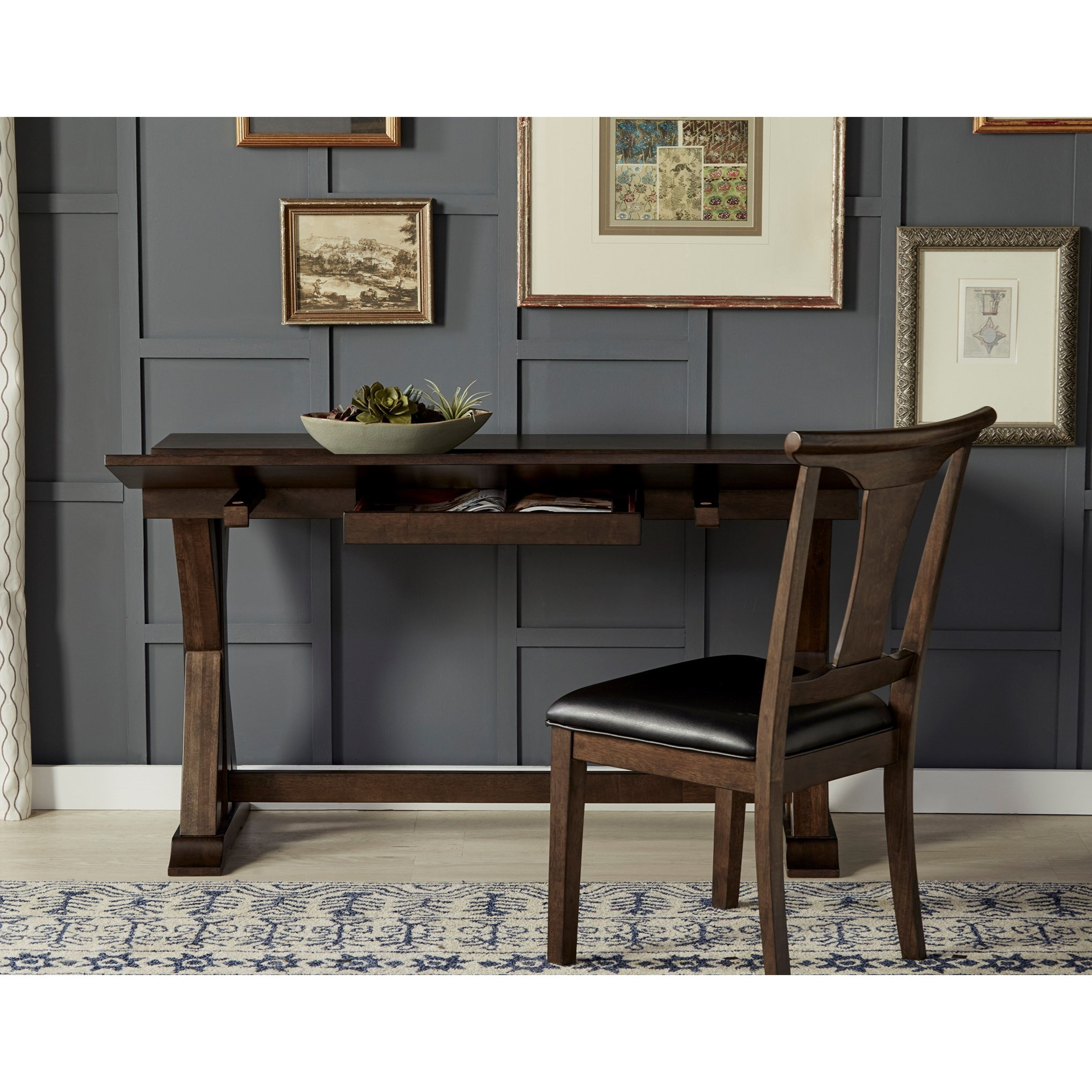 flip top dining table with storage by aamerica wolf and gardiner wolf furniture. Black Bedroom Furniture Sets. Home Design Ideas