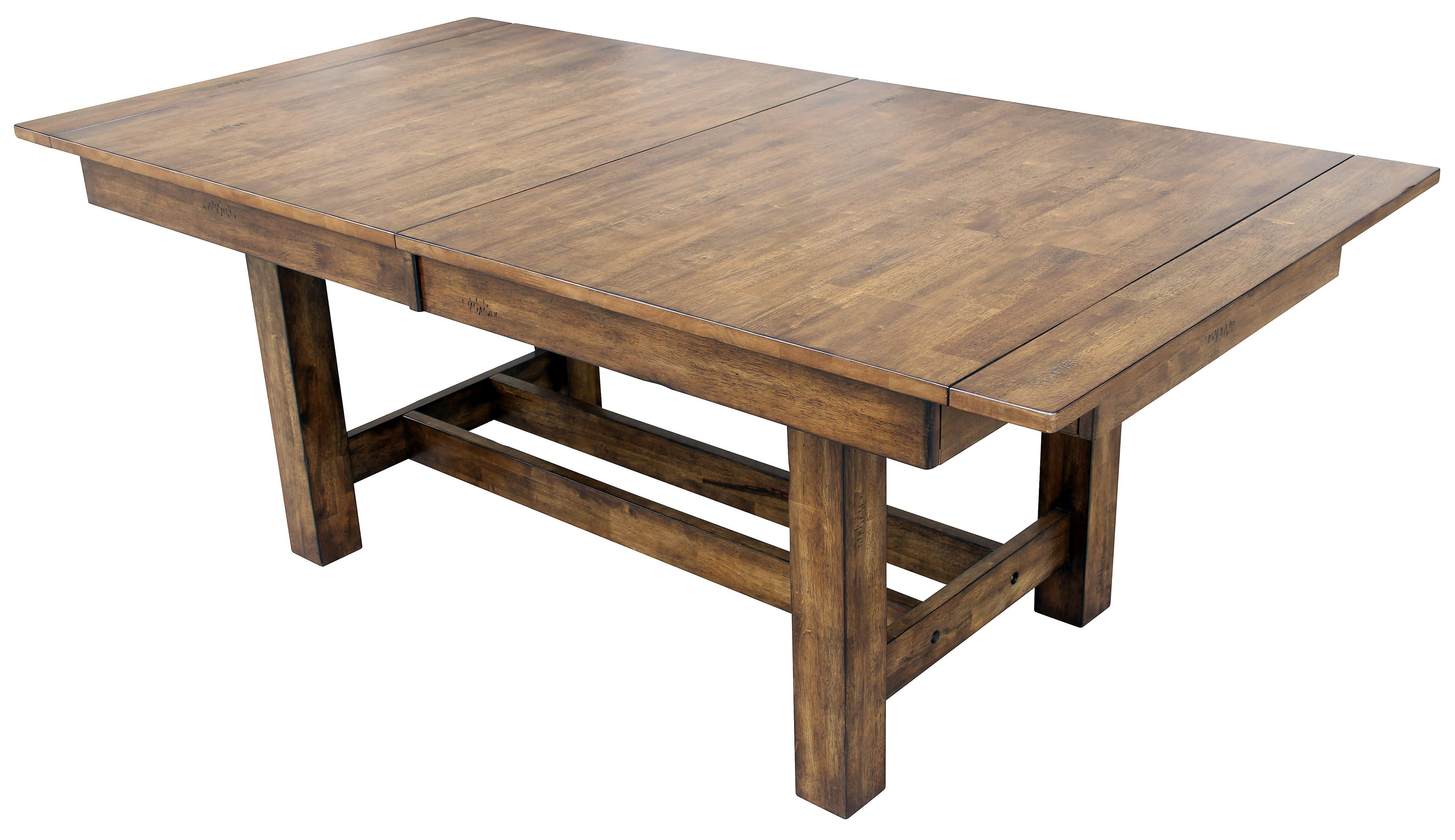 Trestle Table with 3 Butterfly Storage Leaves by AAmerica