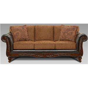 Broyhill express laramie quick ship traditional sofa with for Affordable furniture and appliances