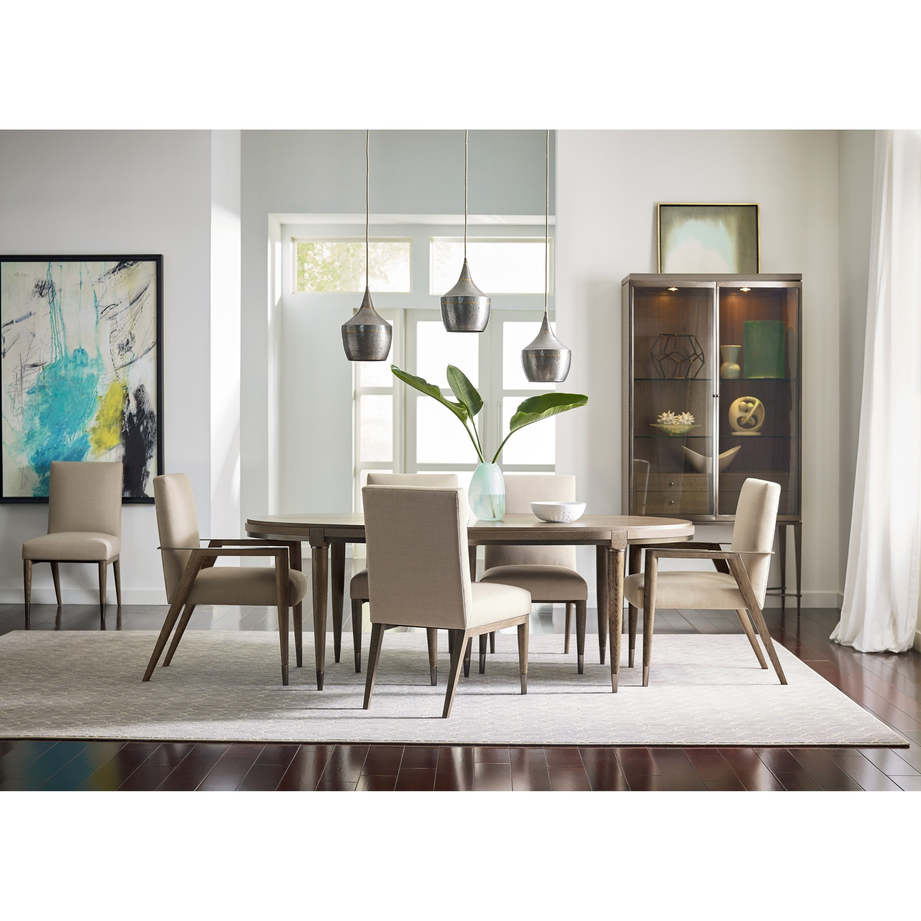 Mid century modern formal dining room group by american for Modern traditional dining room