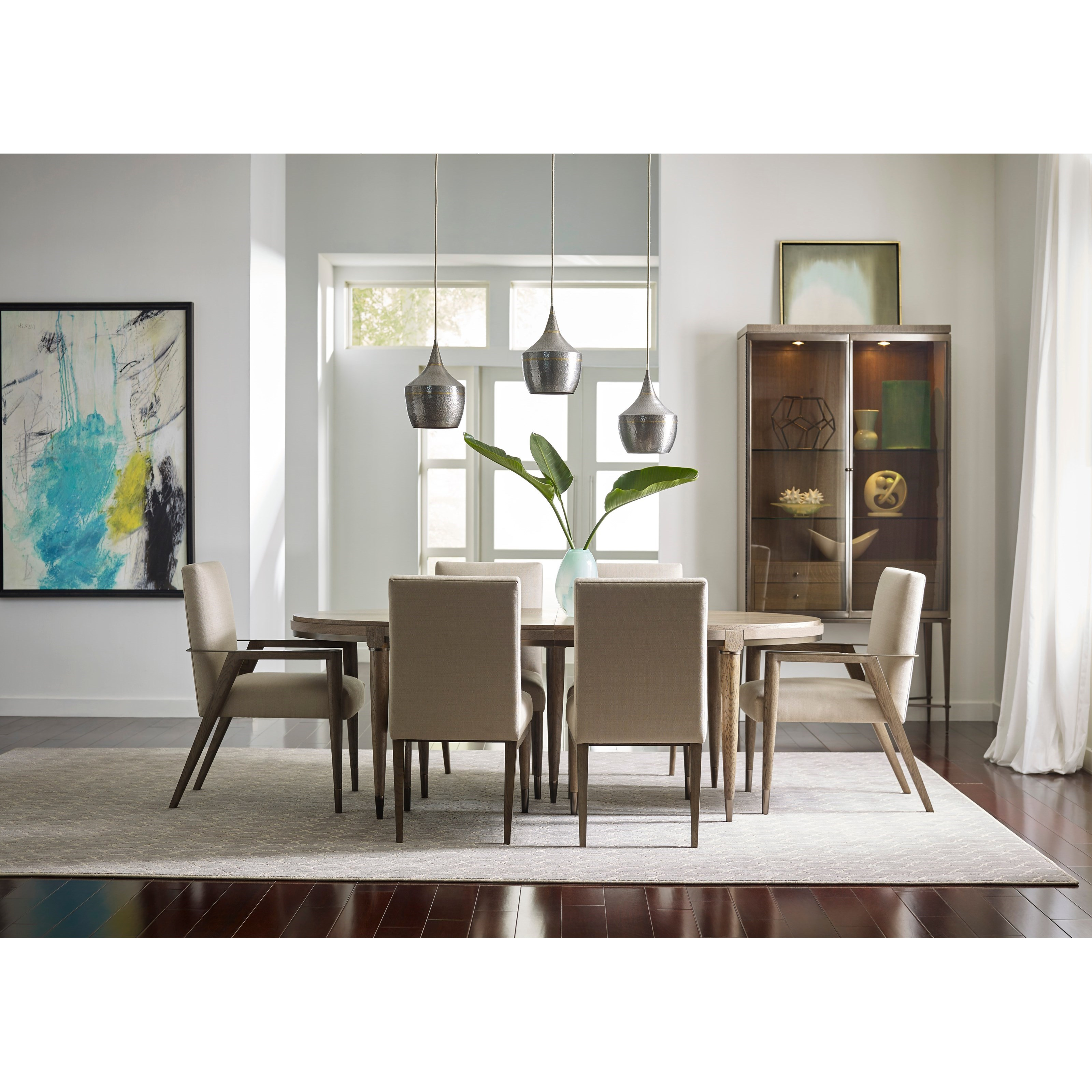 Mid century modern formal dining room group by american for Modern formal dining room