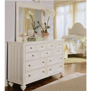 American Drew Camden Light Chest And Mirror