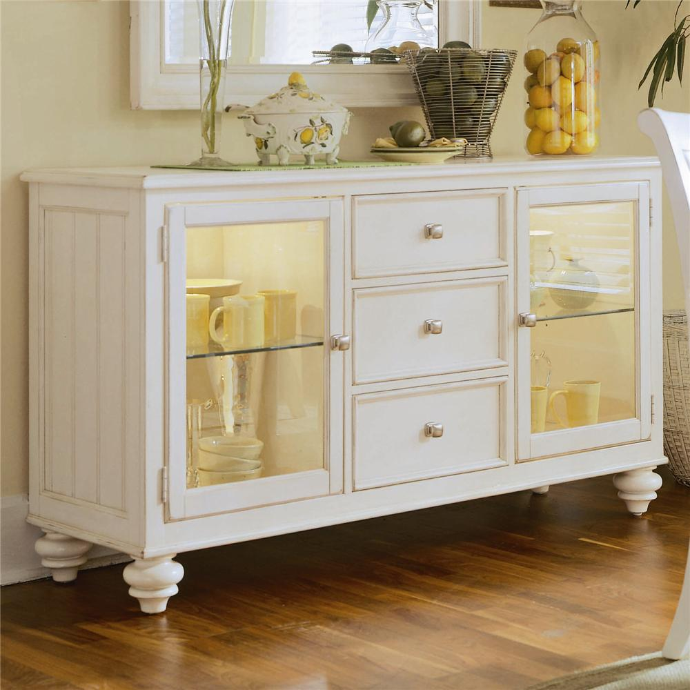 china buffet credenza with 2 glass doors by american drew wolf and gardiner wolf furniture. Black Bedroom Furniture Sets. Home Design Ideas