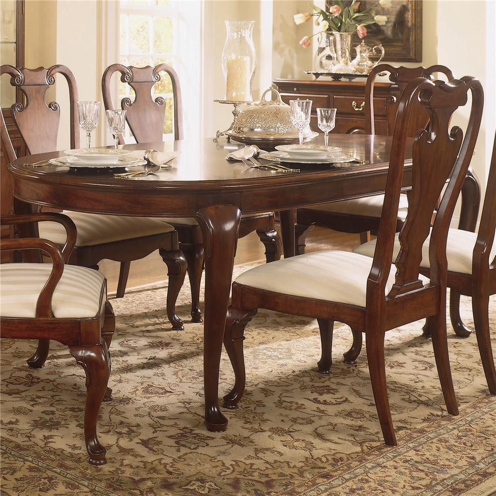 Traditional oval dining table by american drew wolf and for Dining room tables pictures