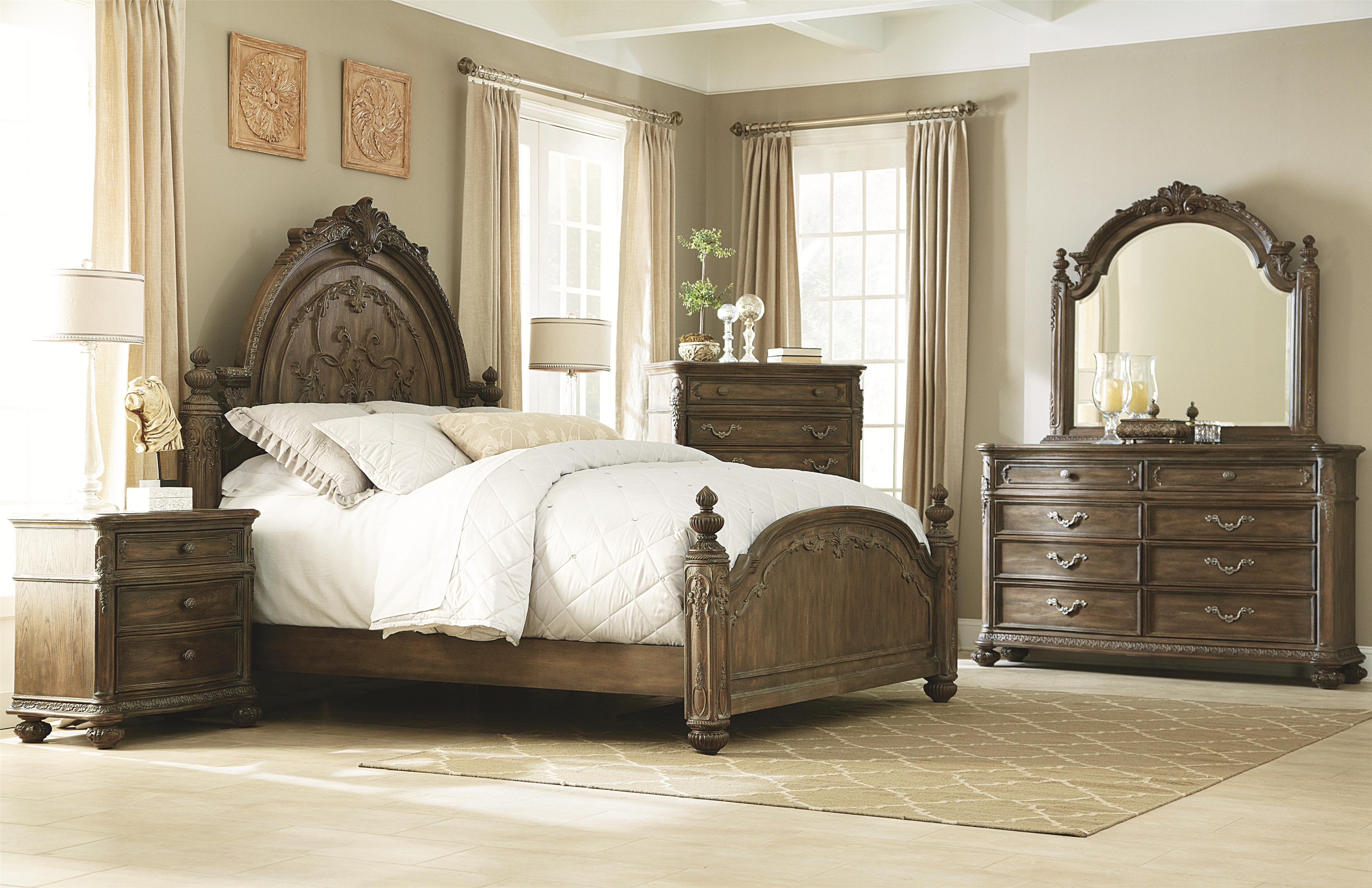 3 Drawer Nightstand With Acanthus Leaf Detailing By American Drew Wolf And Gardiner Wolf Furniture