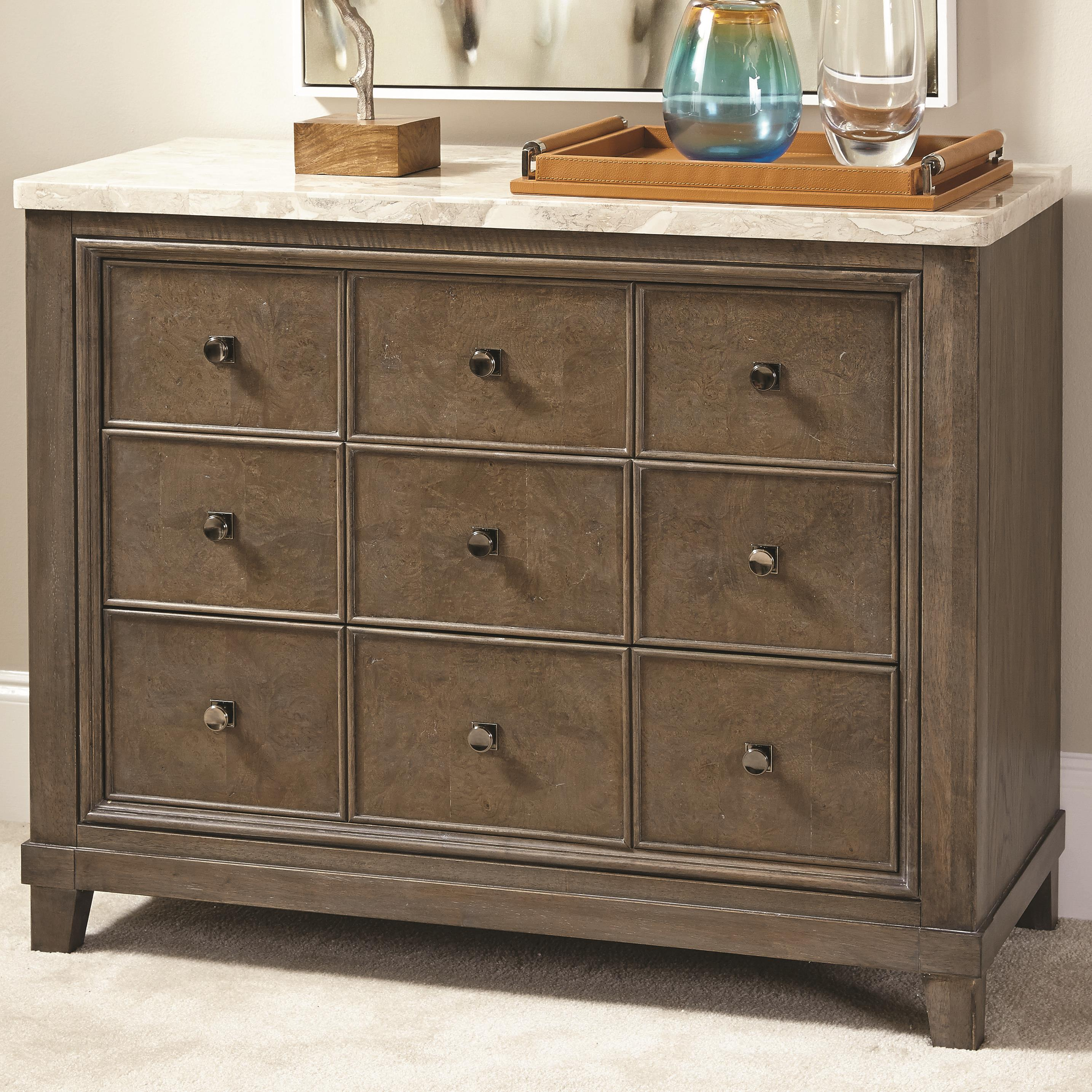 Stone topped apothecary hall chest with drawers and