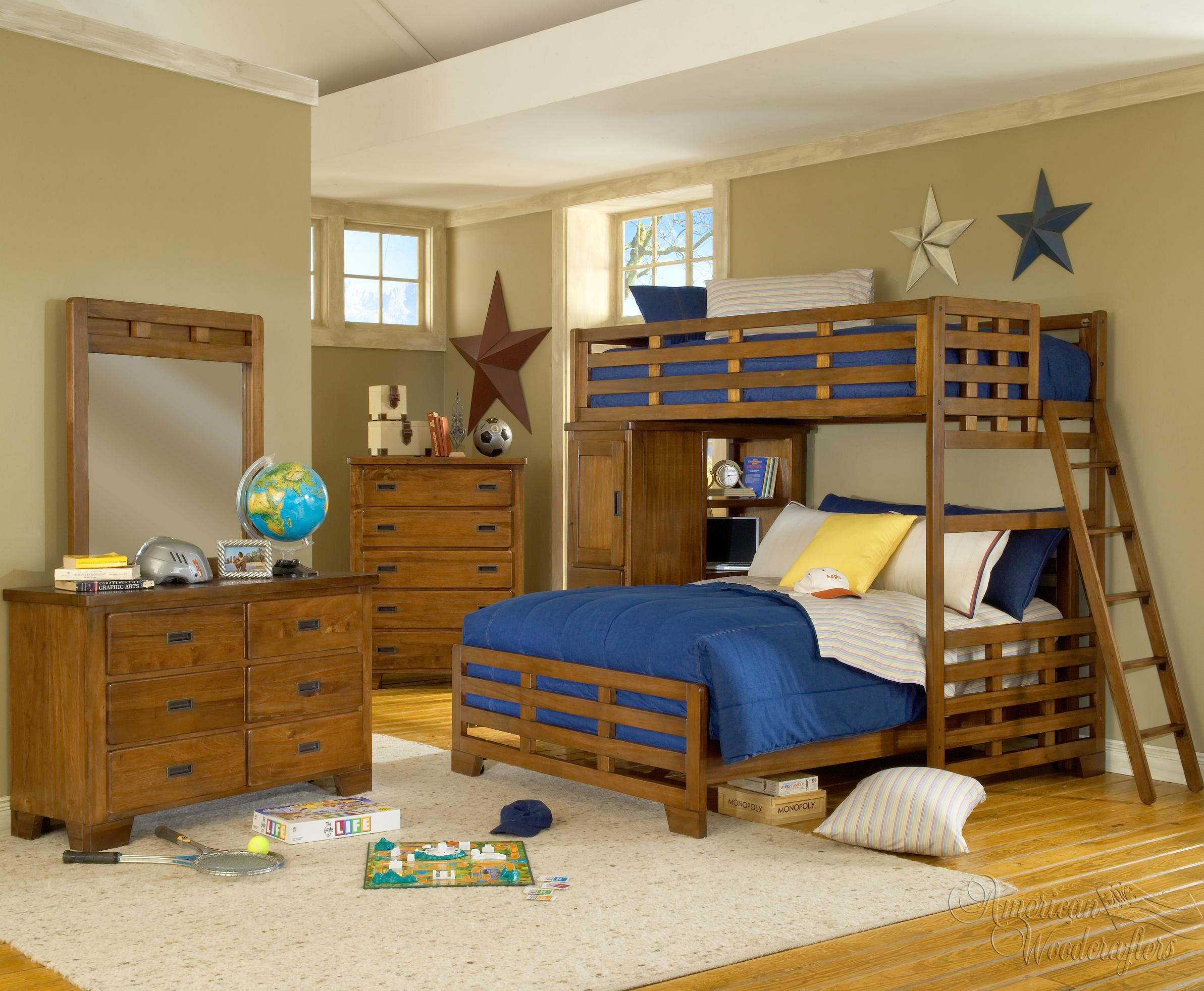 Queen twin bunk bed bunk bed loft with desk queen over for Furniture for small spaces south africa