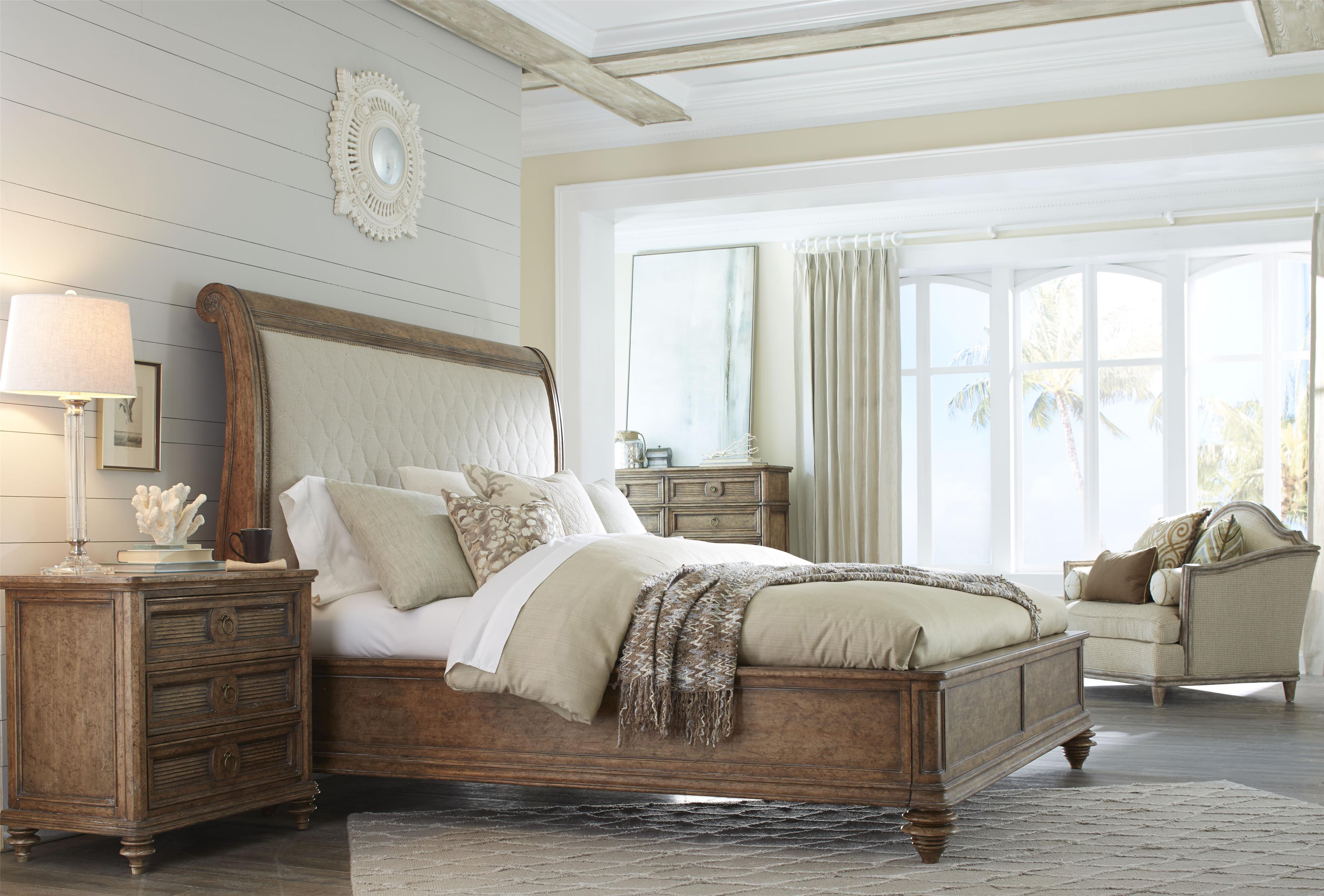 King Upholstered Sleigh Bed By A R T Furniture Inc Wolf And Gardiner Wolf Furniture