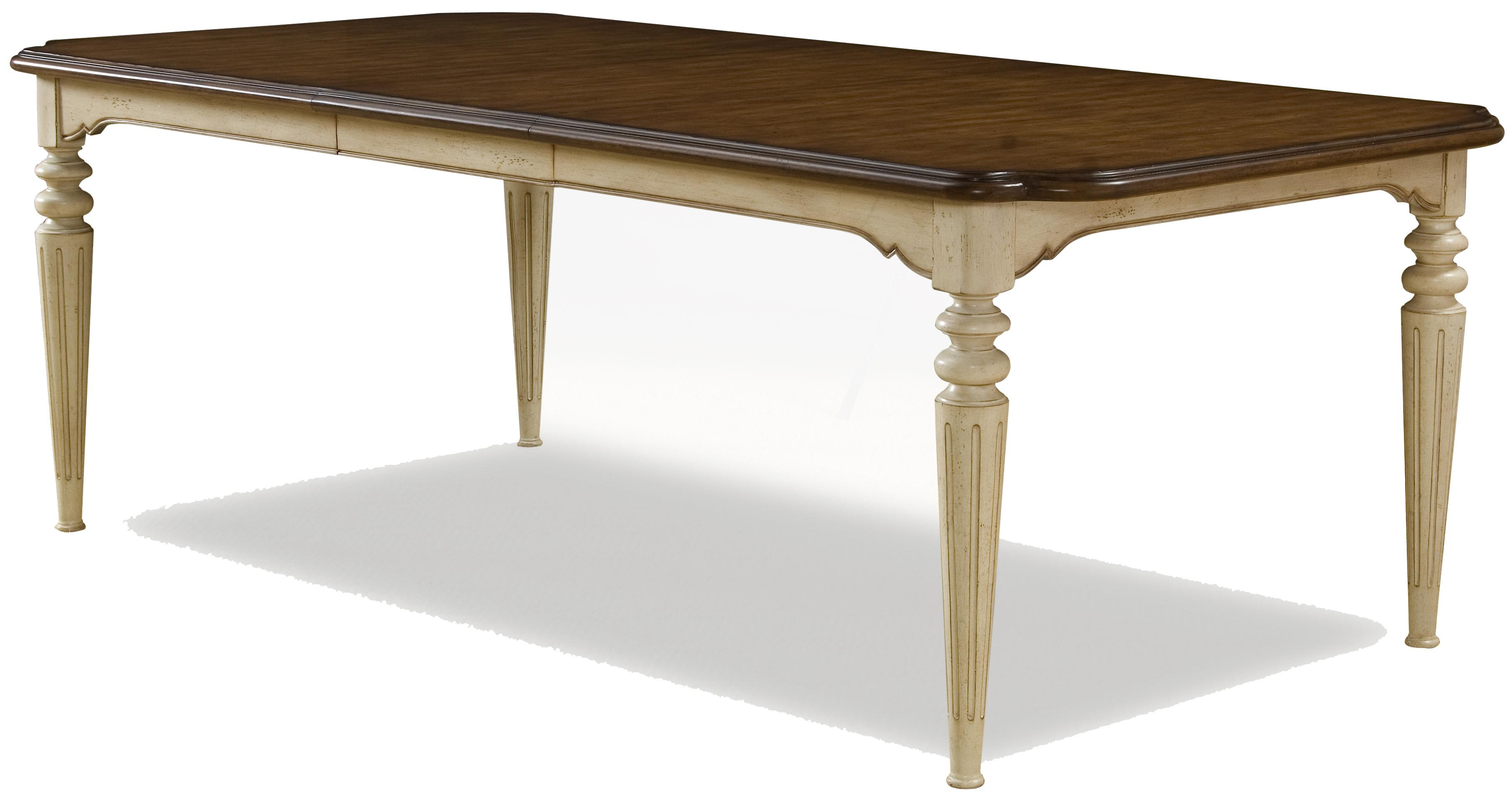 Rectangular two tone dining table by a r t furniture inc for Dining room table 2