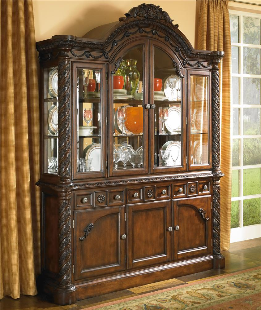 China Cabinet With Glass Doors By Millennium Wolf Furniture