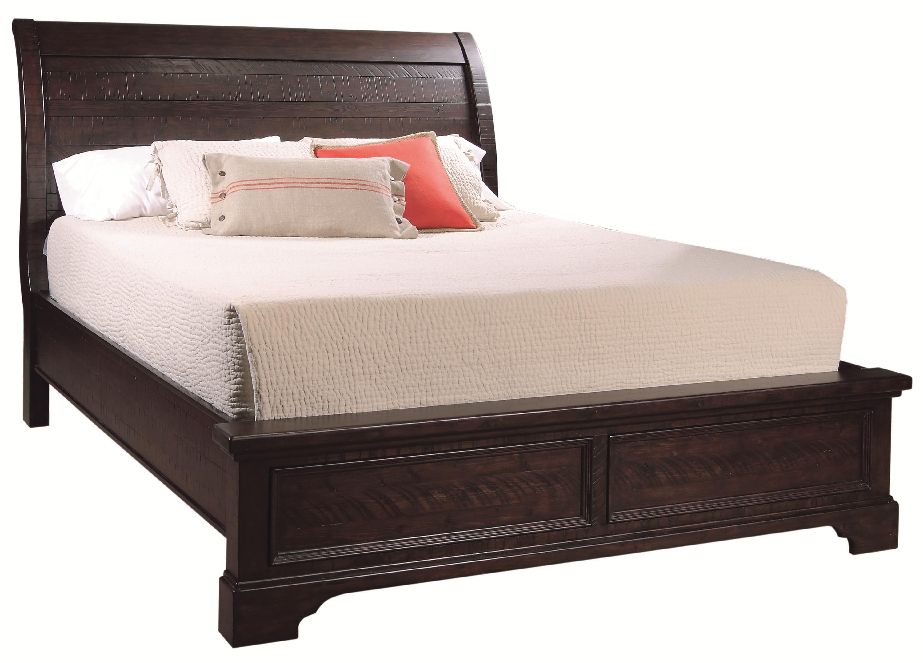California King Size Sleigh Bed With Adjustable Bed Slats