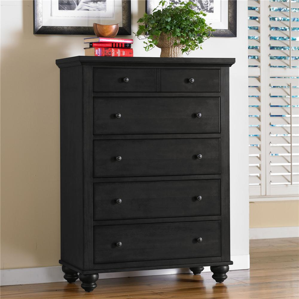 5 drawer chest by aspenhome wolf and gardiner wolf furniture for Bedroom drawers sale