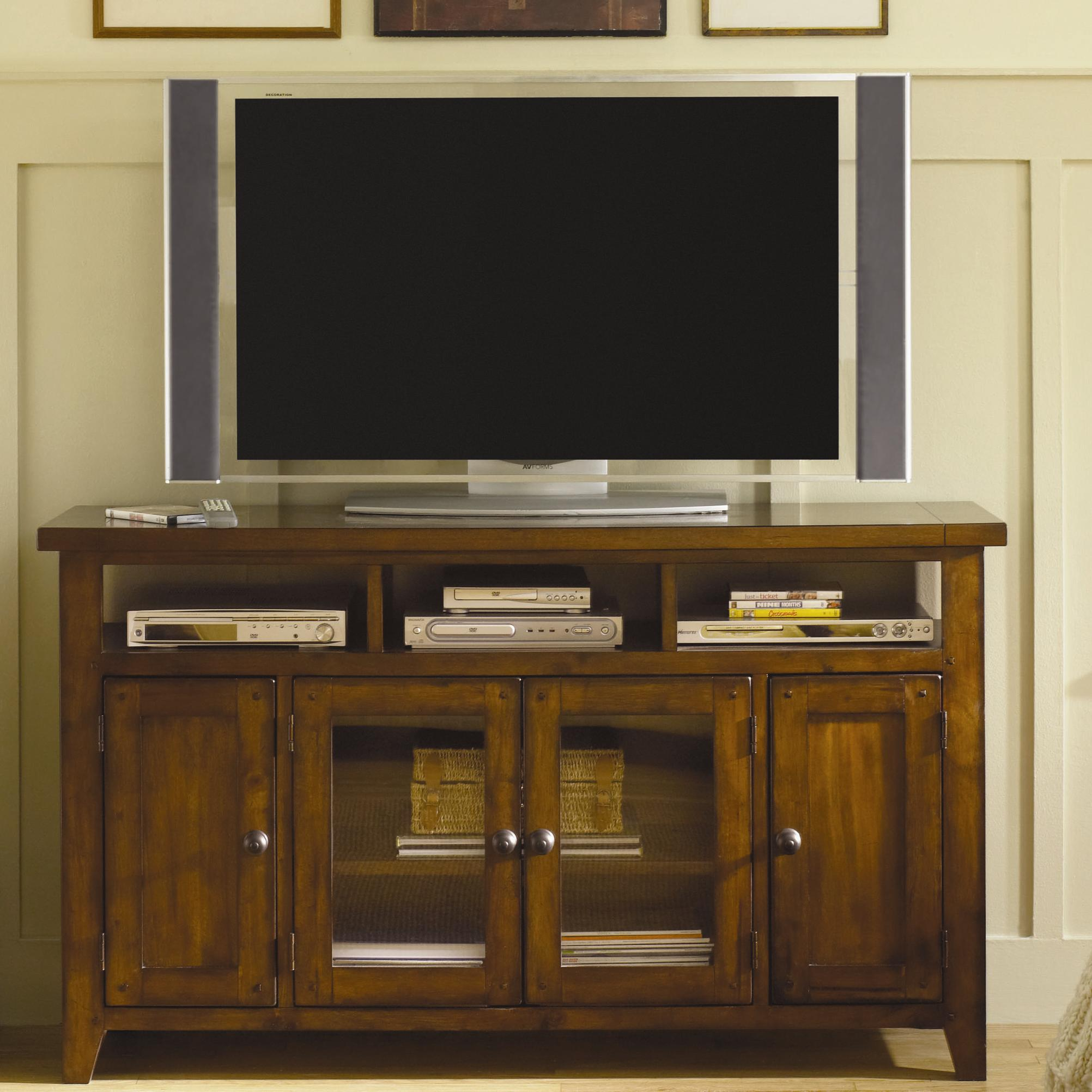 Tv console with storage by aspenhome wolf and gardiner for Tv console with storage