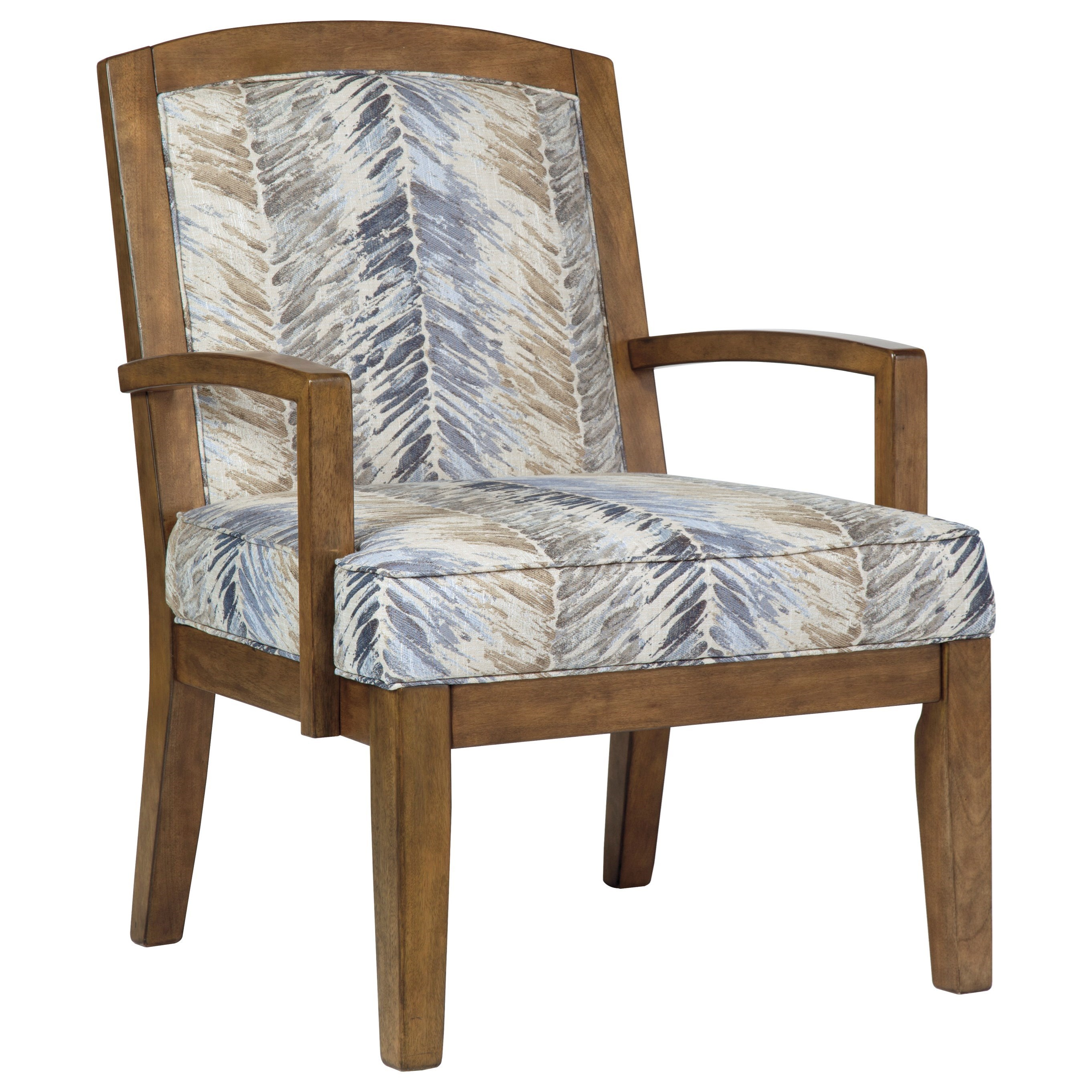 Contemporary Wood Frame Accent Chair By Benchcraft Wolf