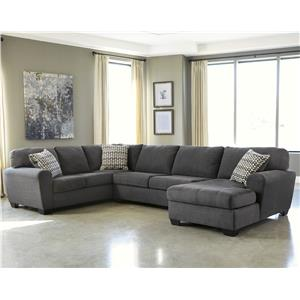 Benchcraft Sorenton 3 Piece Sectional With Chaise Del