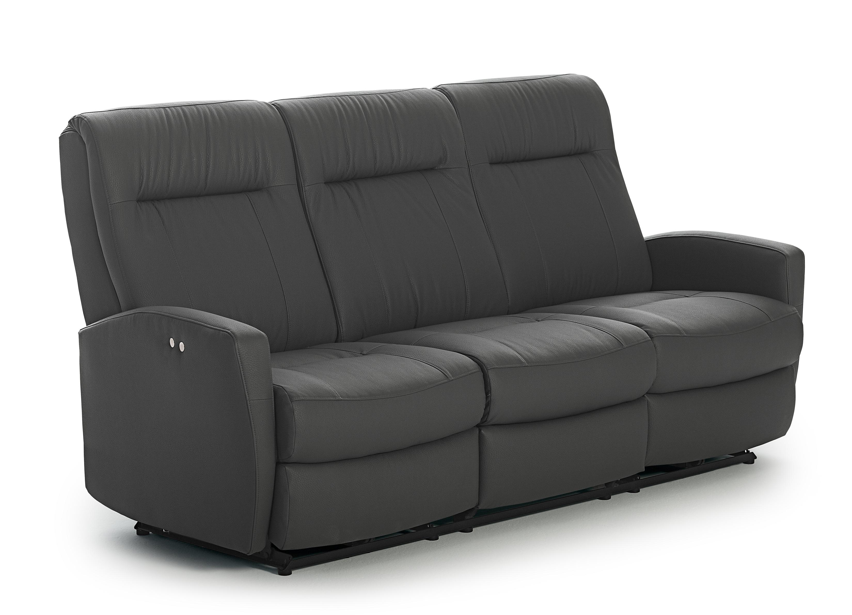 Contemporary Space Saver Reclining Sofa By Best Home