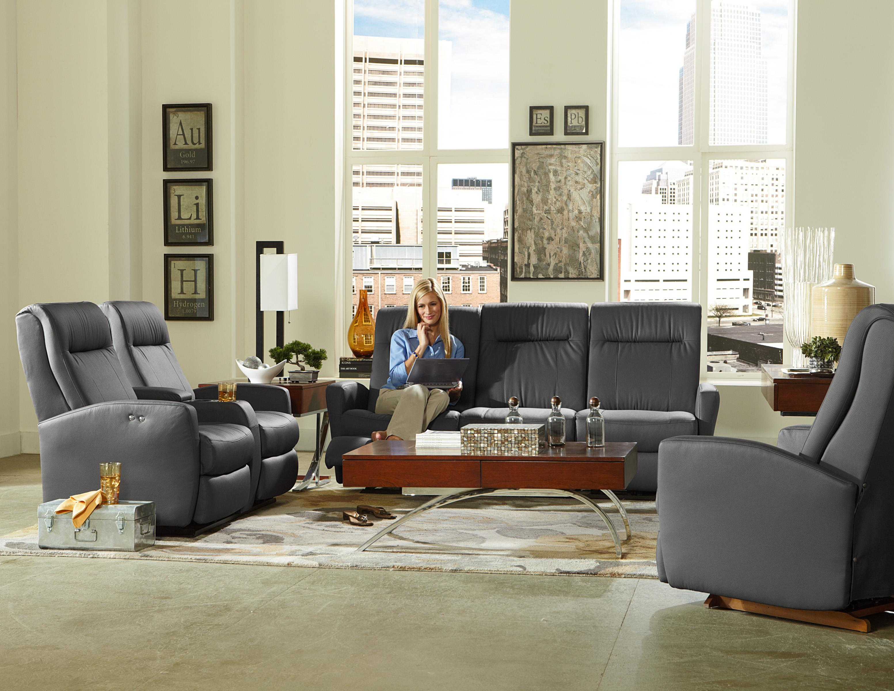 contemporary space saver reclining sofa by best home furnishings wolf and gardiner wolf furniture. Black Bedroom Furniture Sets. Home Design Ideas
