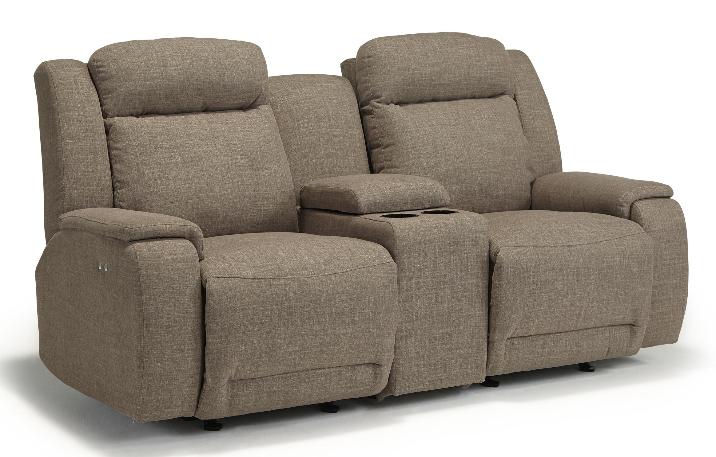 Rocking Loveseat With Console ~ Rocking reclining loveseat with cupholder and storage