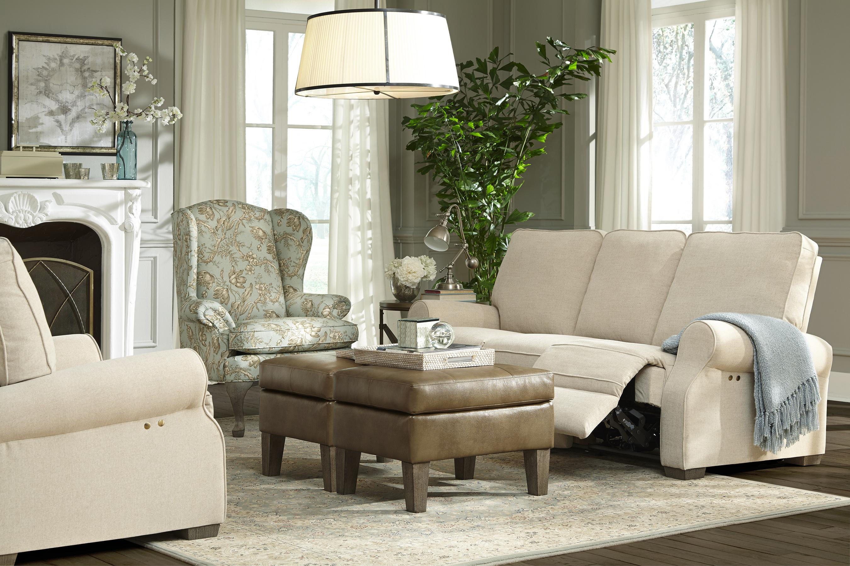 Traditional Power Reclining Sofa with High Legs by Best