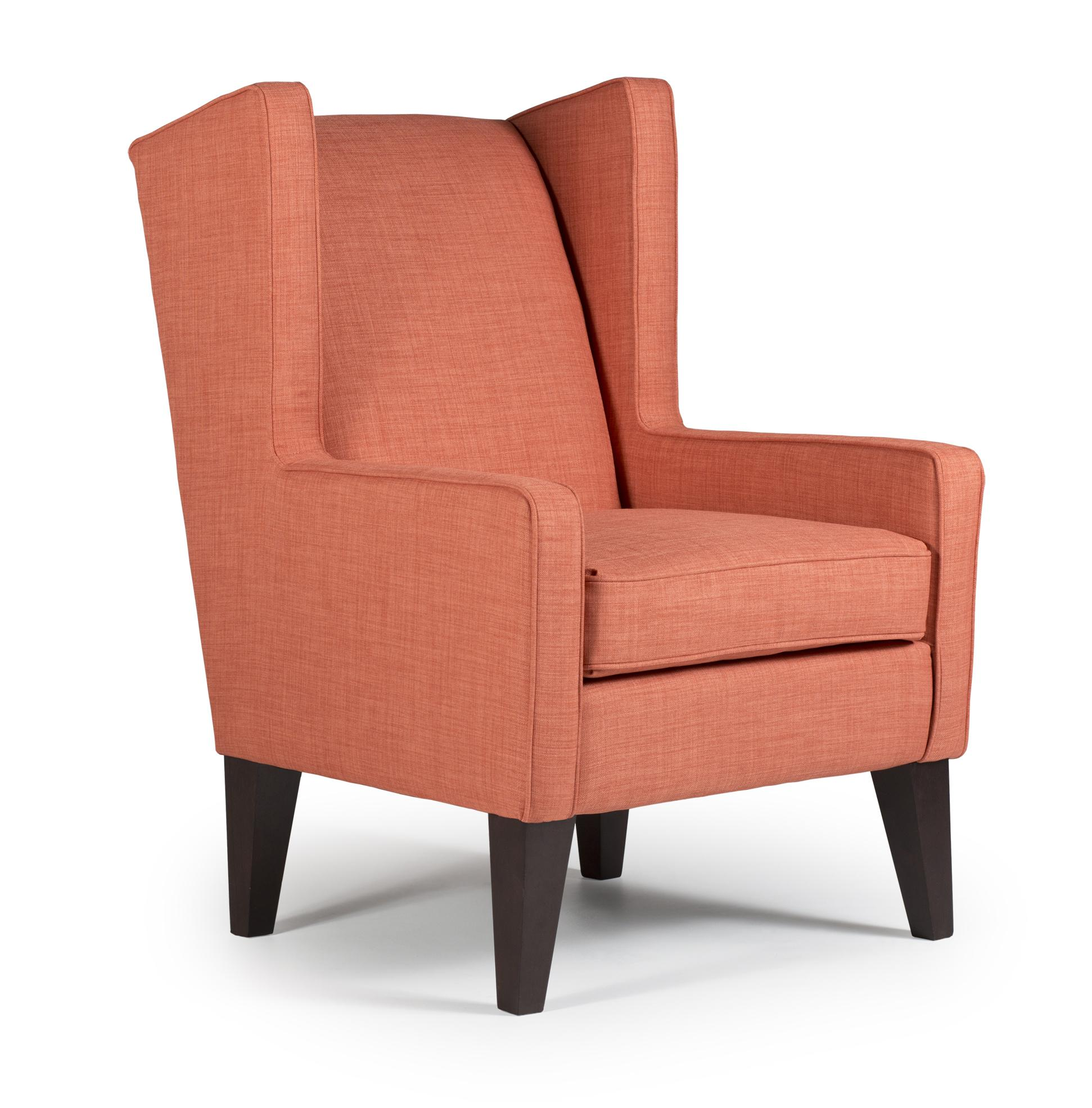 Karla modern wing chair by best home furnishings wolf for Best furniture for home