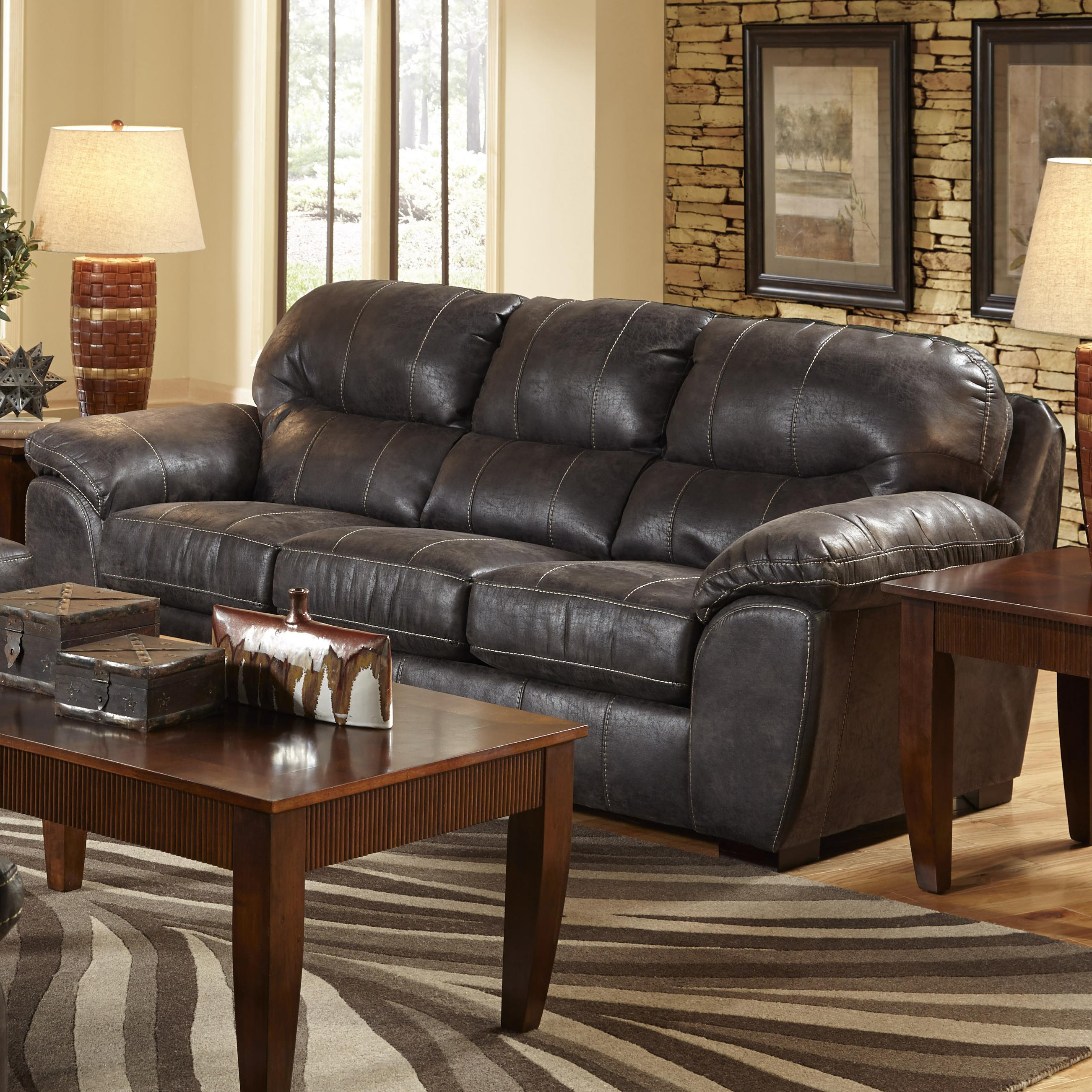 Faux Leather Sleeper Sofa For Living Rooms And Family Rooms By Jackson Furniture Wolf And