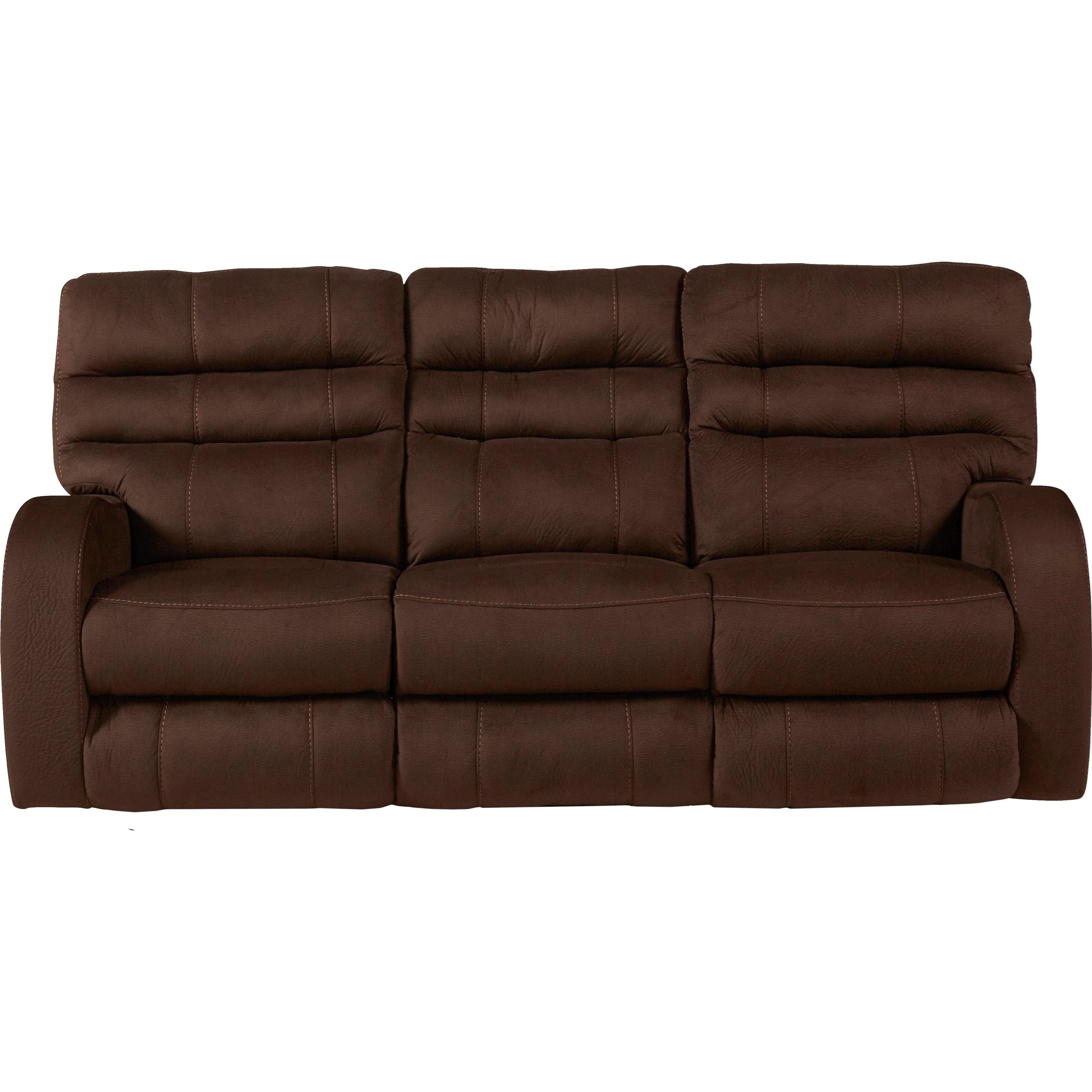 Contemporary power lay flat reclining sofa with power for Flat furniture