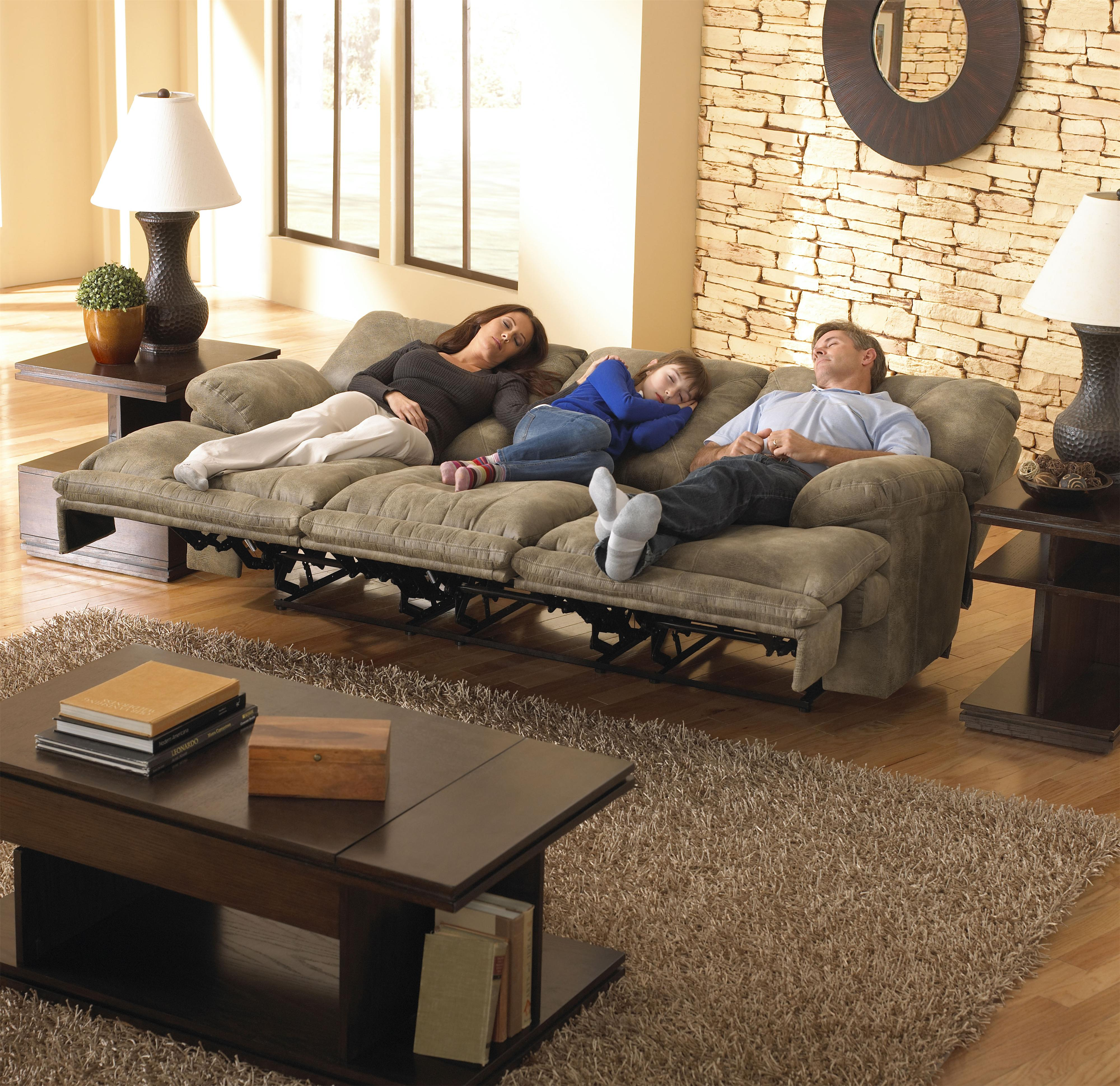 POWER 3 Seat Lay Flat Reclining Sofa By Catnapper Wolf And Gard