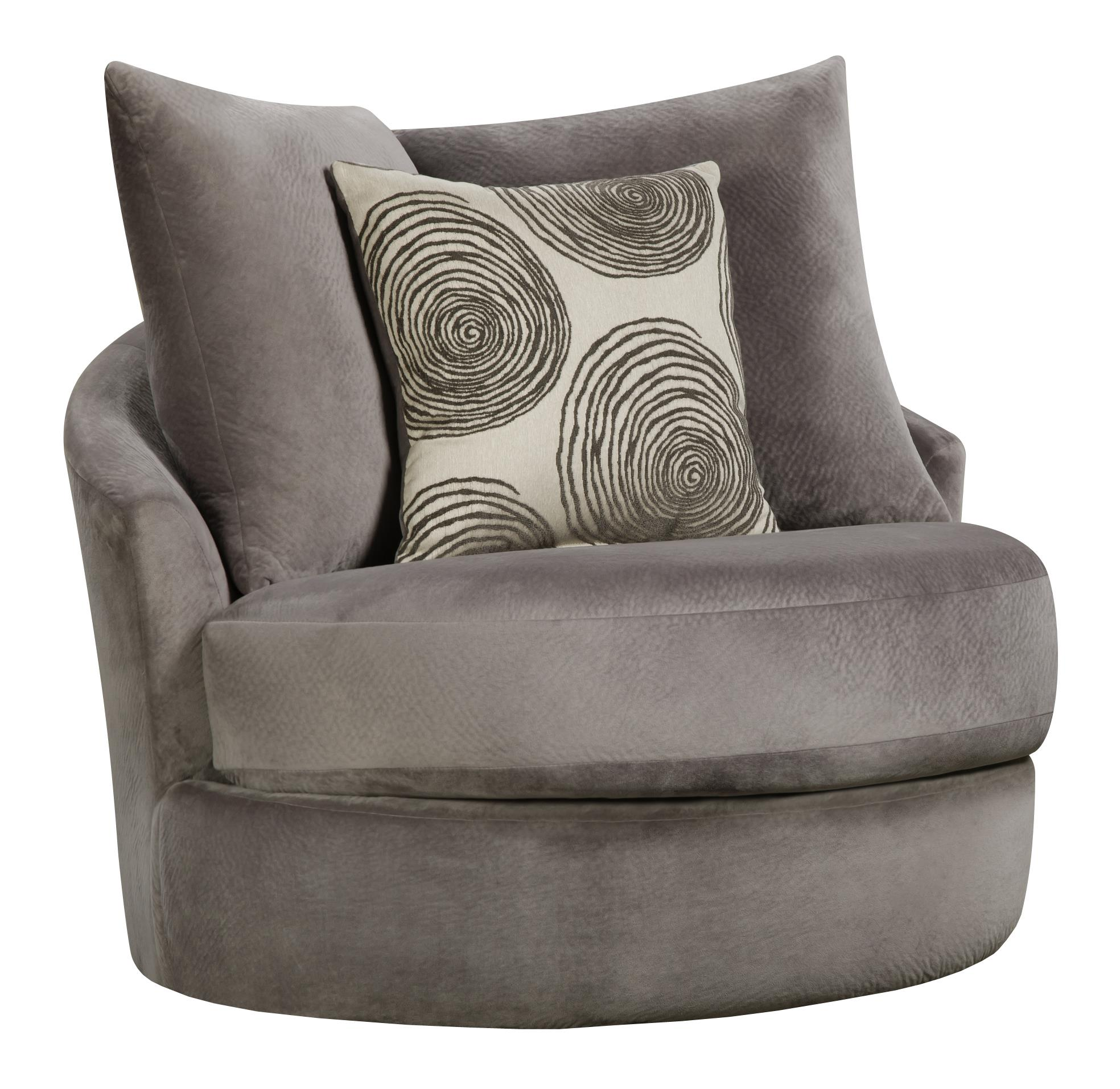 Swivel Chair With Contemporary Style By Corinthian