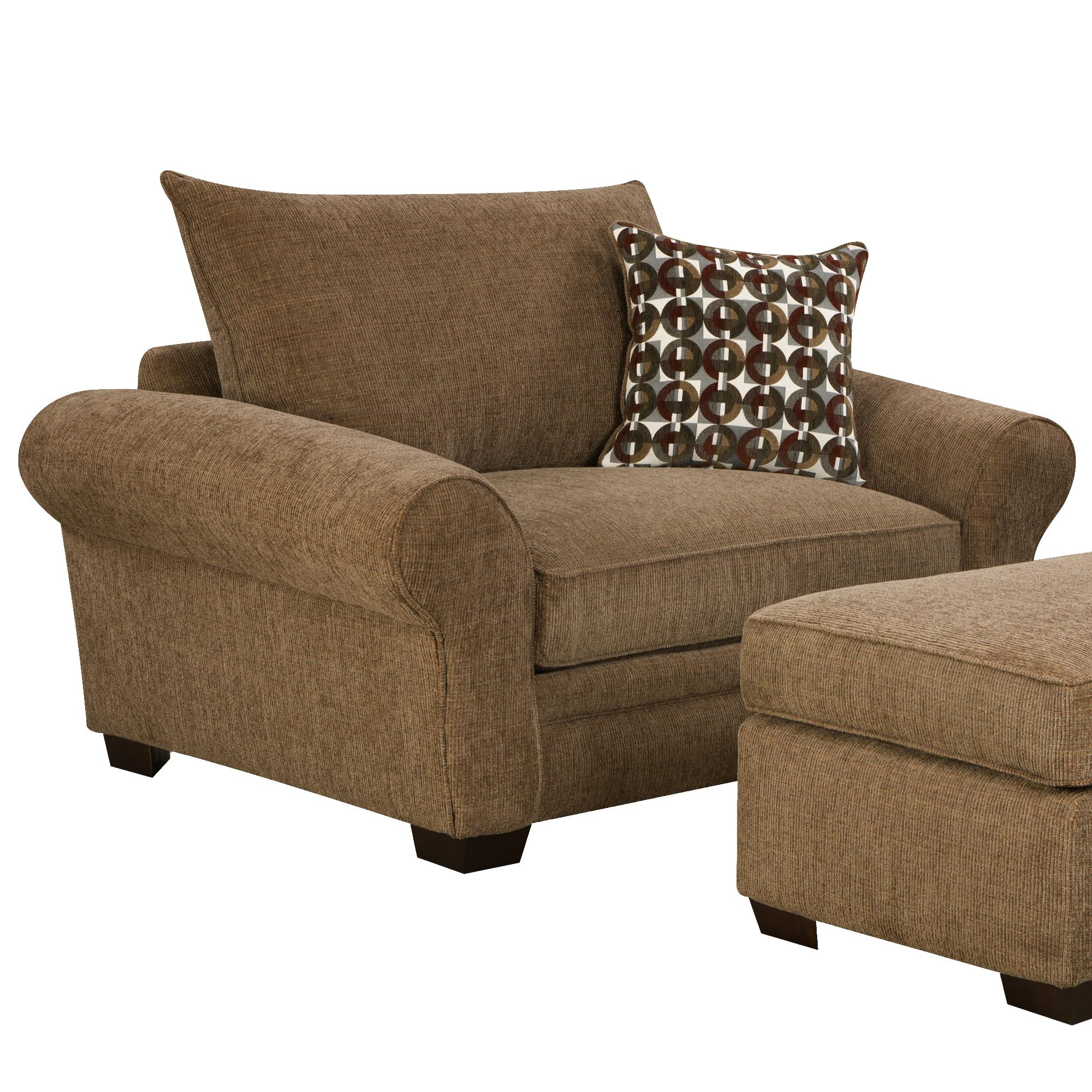 big living room chairs large chair and a half for casual styled living room 13464