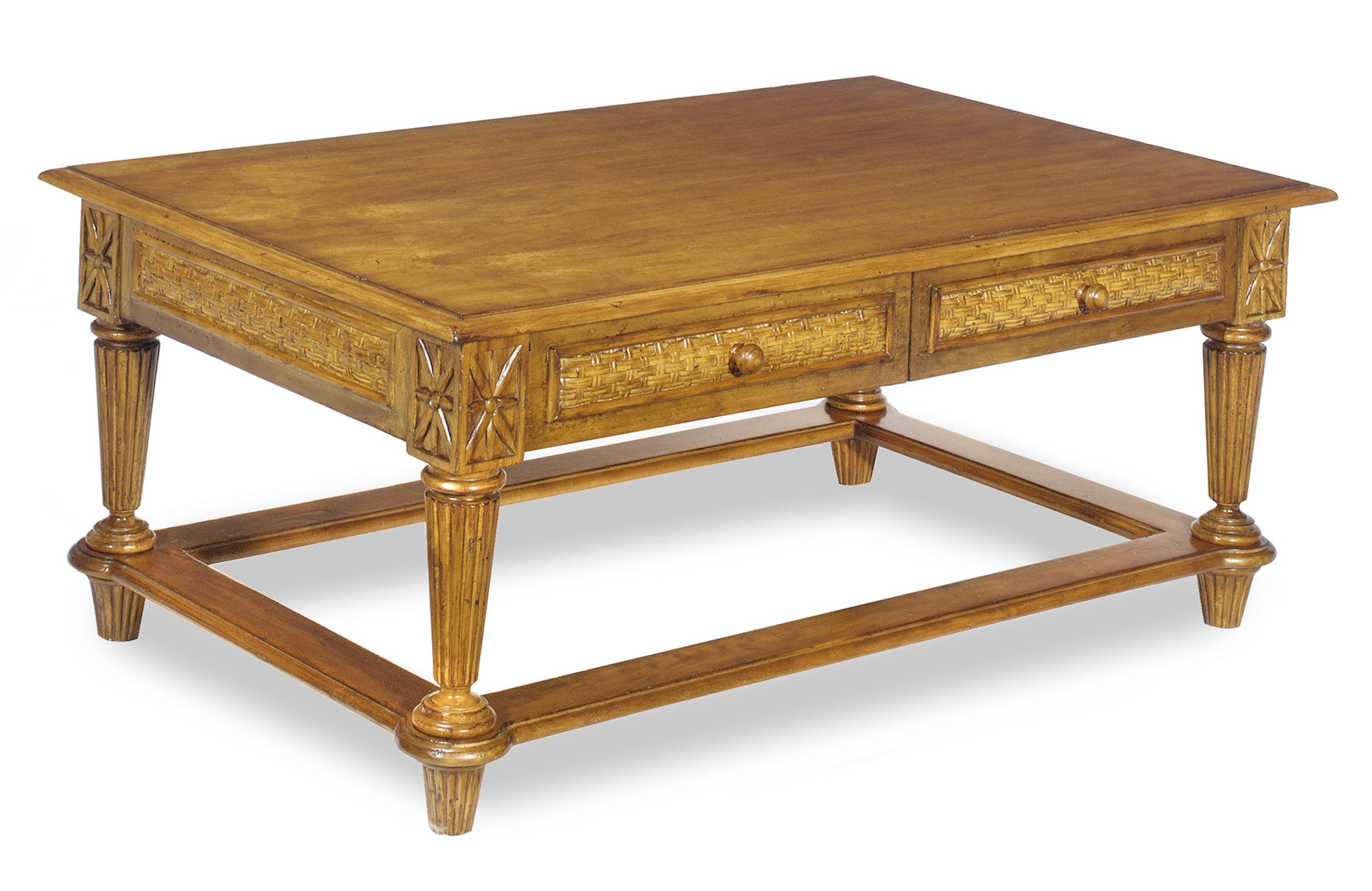 Tropical Two Drawer Cocktail Table By Craftmaster Wolf And Gardiner