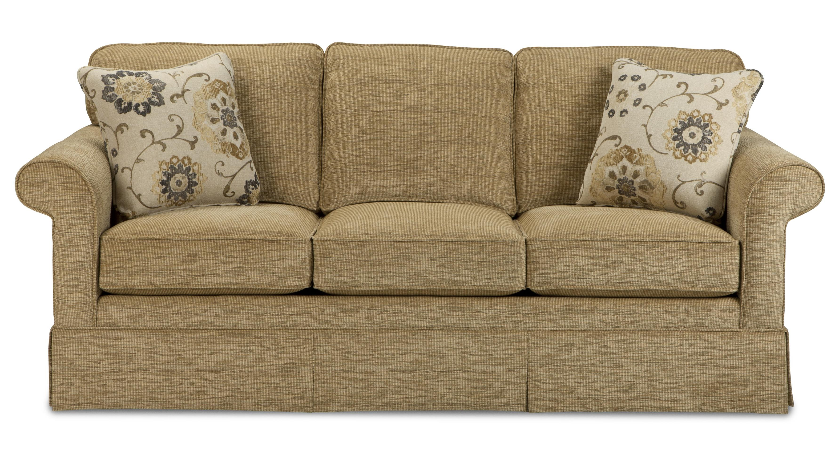 Traditional sofa with kick pleat skirt by craftmaster for Traditional sectional