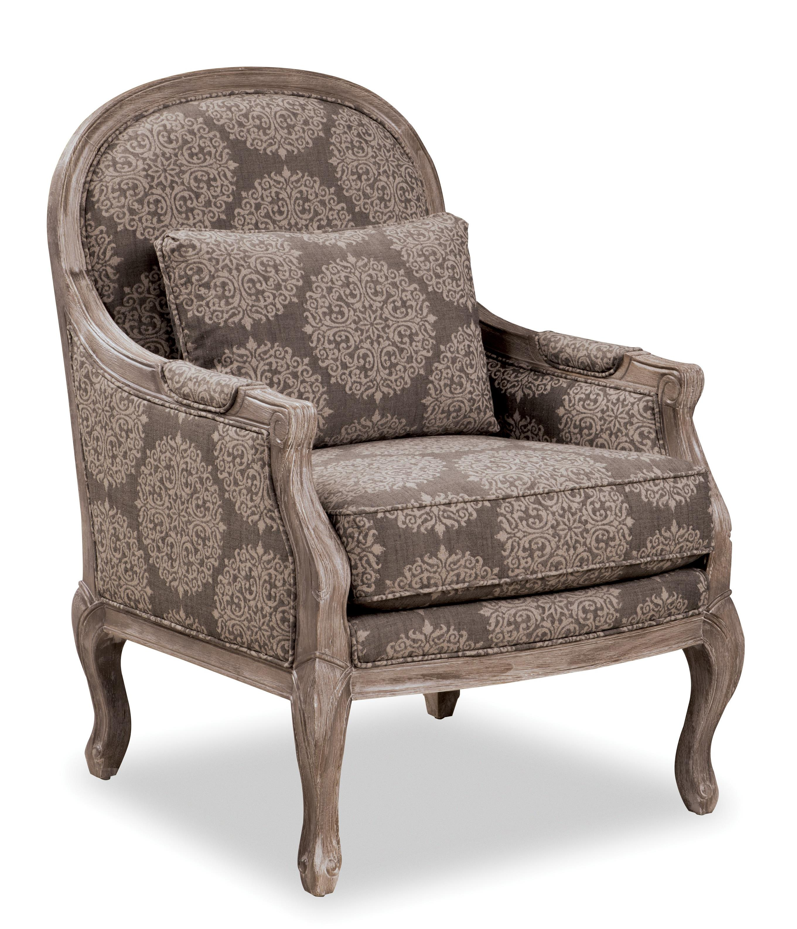 Traditional chair with cabriole legs and exposed wood for Traditional sofas with legs